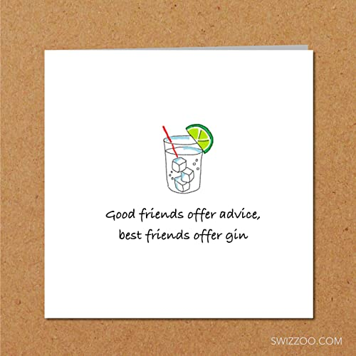 Birthday Greeting Card Any Occasion Funny Humorous Amusing Spirits Vodka Drink Drinking
