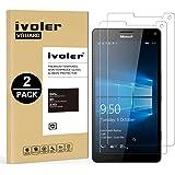 iVoler [2 Pack] Pellicola Vetro Temperato per Microsoft Lumia 950XL [Garanzia a Vita], Pellicola Protettiva, Protezione per Schermo