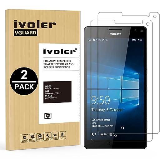 33 opinioni per [2-Pack] Pellicola Vetro Temperato Microsoft Lumia 950XL, iVoler® ** [Protezione