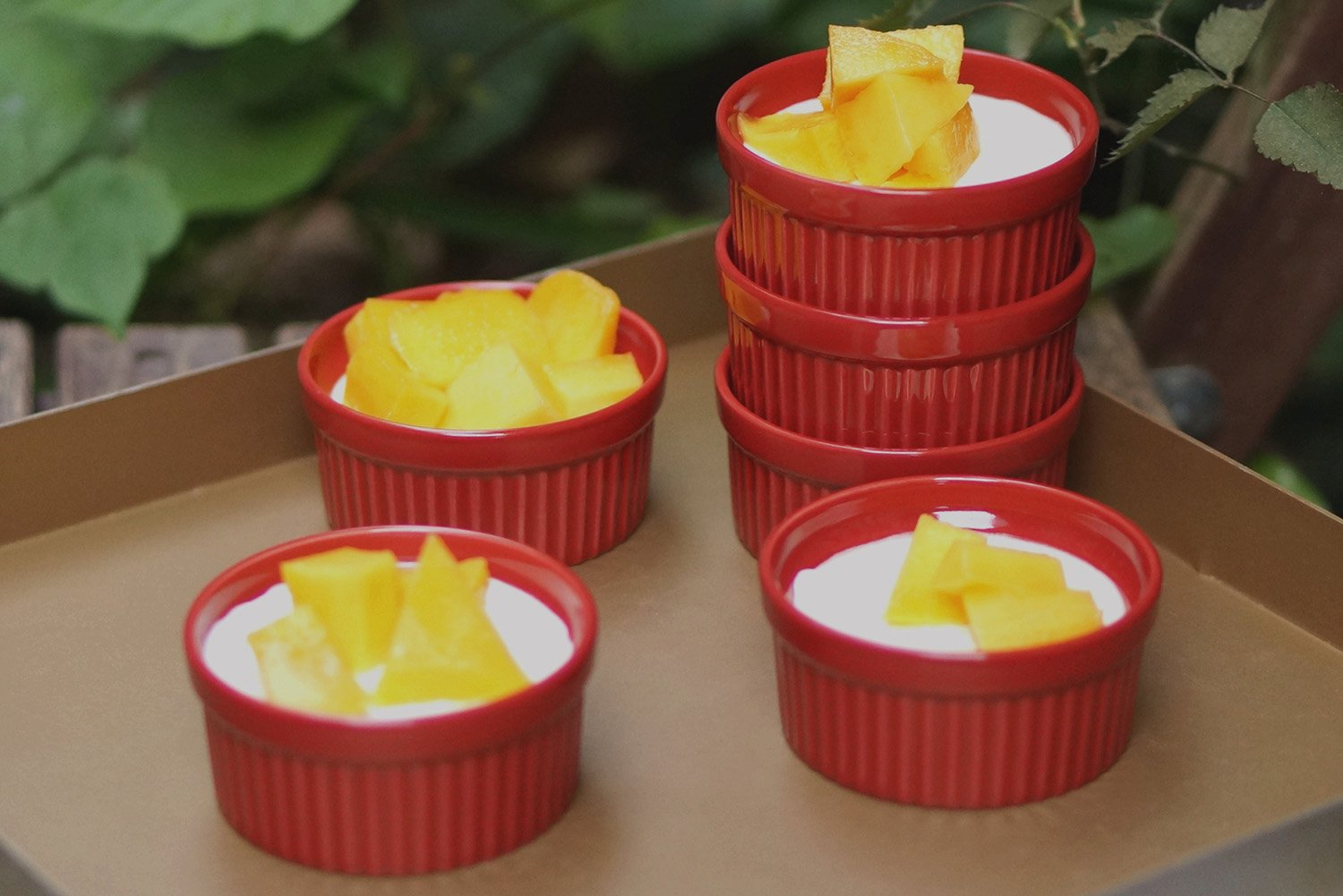 Cinf  Porcelain Ramekin Red 4 oz. Pudding Bowls Dishes Cup For Baking, Set Of 6 by Cinf (Image #7)