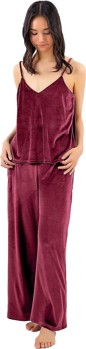 2Pcs Lounge Set pour Femme chenille velours de détente Survêtement Sports Crop Top Pant