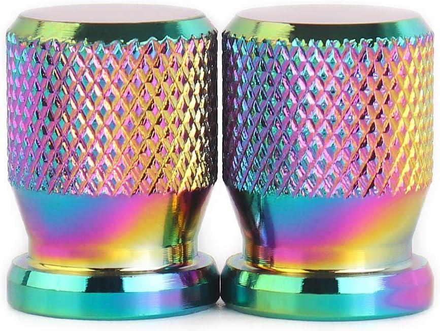 Lot de 2 Capuchon Bouchon de Valve dair Cache-poussi/ère Aluminium Motos Soupape de Roue Couvercles pour Kawasaki Z400 Z650 Z800 Z900 Z1000 Z1000SX ZX6R Versys 650 1000