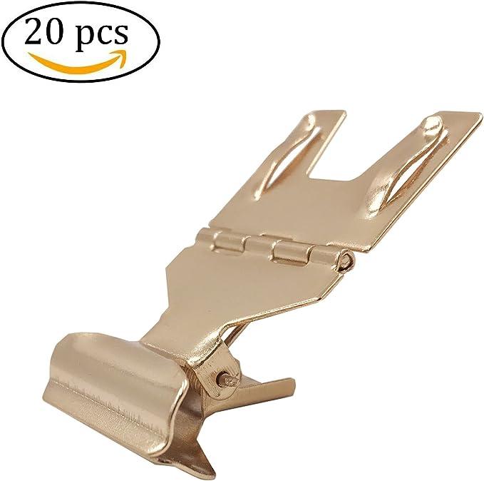do4u Metall Pop Halterung Werbung Display Schild Clip Brot Store Preis Karte Halter 30Pcs champagnerfarben//goldfarben