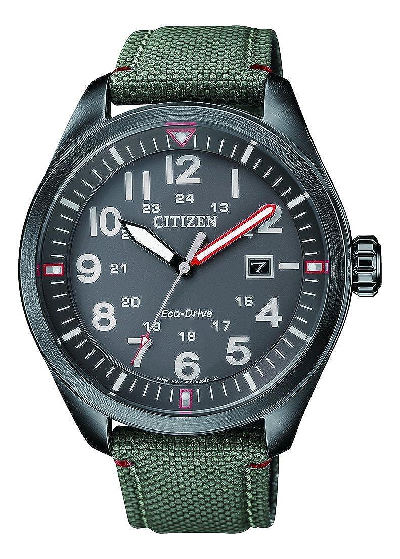 Citizen Hombre analógico de Cuarzo Reloj con Textil Pulsera aw5005–39h