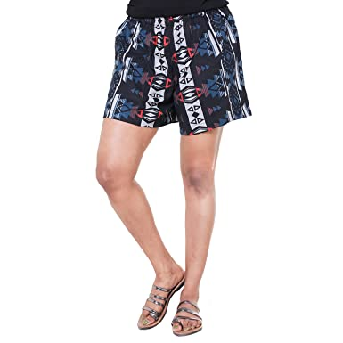 973a17578f3 Twist Women Girls Printed Comfort Night Wear Shorts (S to XXL Plus Size)  with Contrast   Free Shipping  Amazon.in  Clothing   Accessories