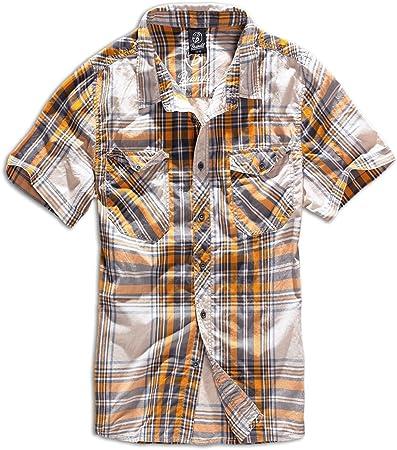 Brandit Hombres Roadstar Camisa Sand / Amarillo tamaño M: Amazon.es: Ropa y accesorios