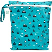 Bumkins Waterproof Wet Bag 12x14, Washable, Reusable for Travel, Beach, Pool, Stroller, Diapers, Dirty Gym Clothes, Wet Swimsuits, Toiletries, Electronics, Toys - Outdoors