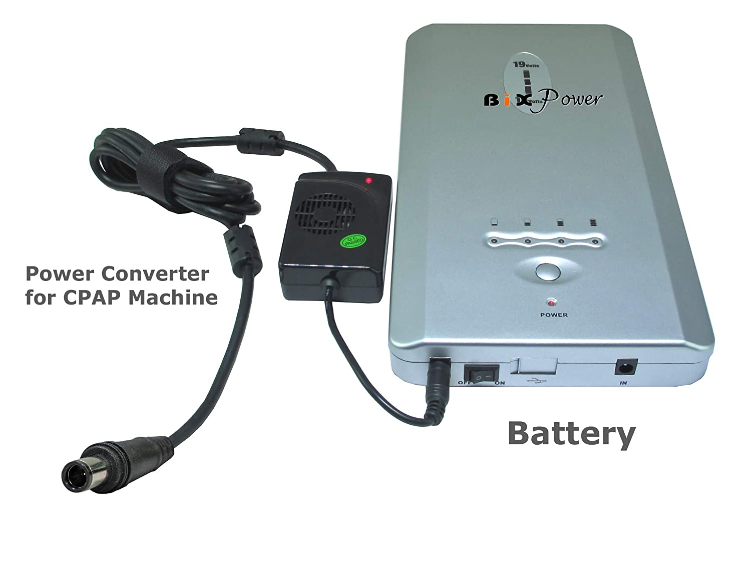 BiXPower Super High Capacity (223 Watt-Hour) Rechargeable Battery for ResMed AirSense 10 CPAP Machine CP220-S10