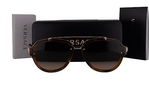 c2913d9a8233 Versace VE4327 Sunglasses Havana Gold w Brown Gradient Lens 96713 VE 4327   Amazon.co.uk  Clothing