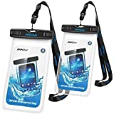 Mpow スマホ携帯ケース 防水ケース 【2セット】 iPhone6S/6S Plusなど6インチまでのスマホに対応 アウトドア/潜水/温泉/釣り/お風呂/水泳/砂浜など用の防水袋 IPX8認定 防水携帯ケース スマホ完全防水ケース
