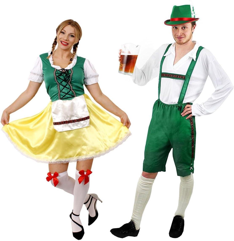 ILOVEFANCYDRESS - Disfraz de pareja de traje bávaro para adultos ...