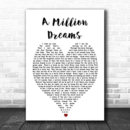 picture about A Million Dreams Lyrics Printable identified as : A Million Desires Middle Music Lyric Estimate Print