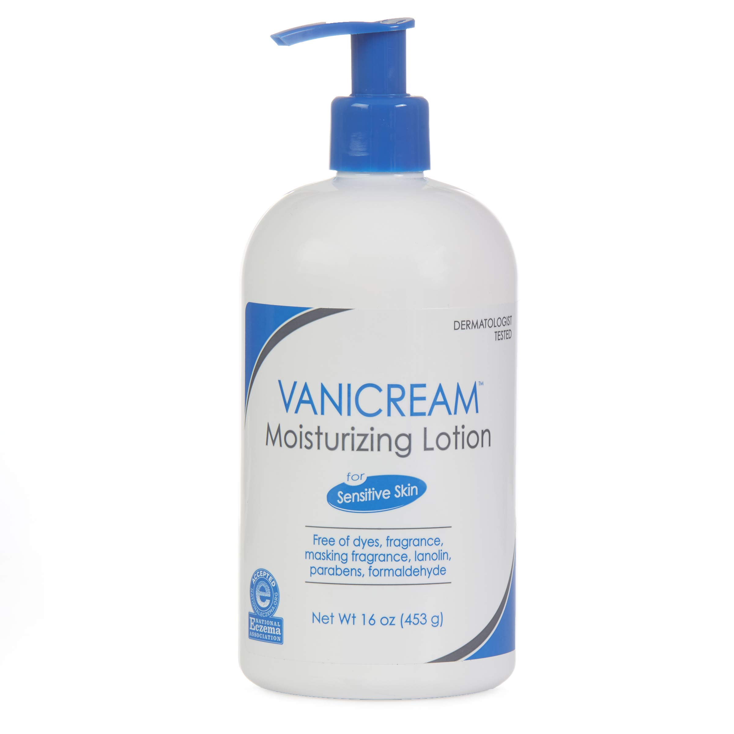 Vanicream Moisturizing Lotion with Pump | Fragrance and Gluten Free | For Sensitive Skin | 16 Ounce (Pack of 1)