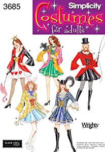 Simplicity Sewing Pattern 3685 Misses Costumes, RR (14-16-18-20)