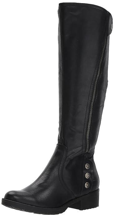 fc95e7b4956fd BareTraps Womens Oria Faux Leather Knee-High Riding Boots Black 5 Medium (B,