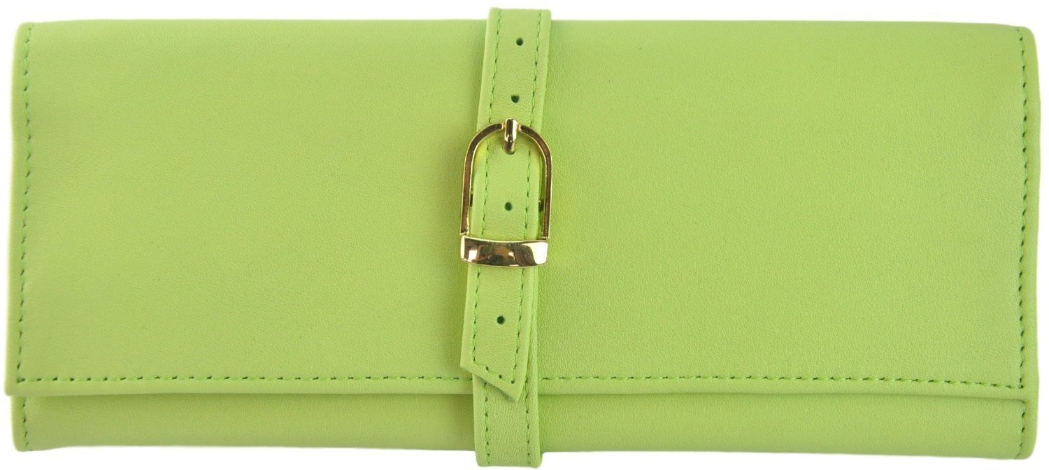Royce Leather Jewlery Roll (Key Lime Green)
