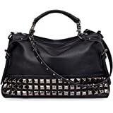 d3fd8adc24 FiveloveTwo Women Modern Punk PU Leather Cross Body Rivet Top-handle  Shoulder Bags Hobo Tote