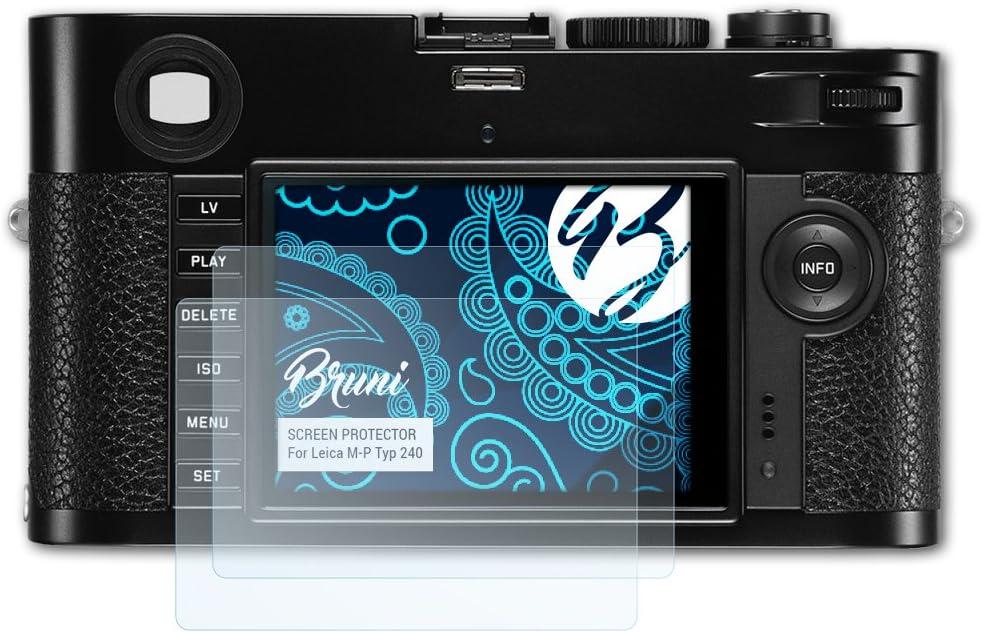 Cristal Clair /Écran Protecteur 2X Bruni Protecteur d/écran pour Leica M-P Typ 240 Film Protecteur