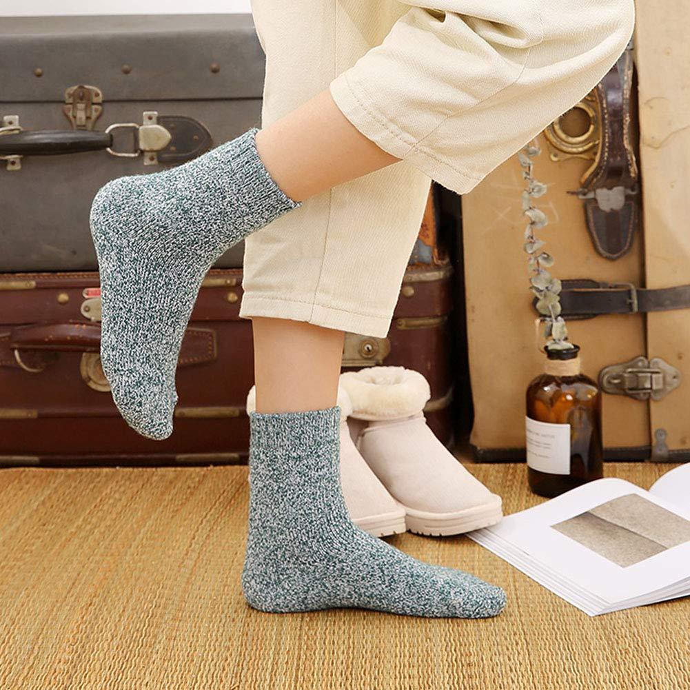 6-Colour Tencoz 6 Pairs Thermal Warm Socks Women Socks Winter Socks Vintage Soft Warm Socks Ladies Socks for winter Womens Socks Wool