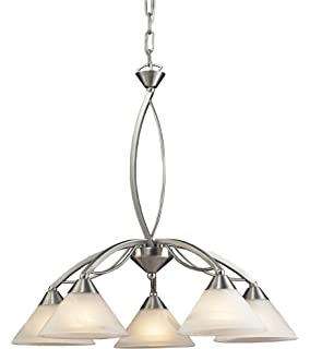 elk 770 3 mb a santa fe 3 light billiard light 14 inch mission Nautical Style Ceiling Fans elk 7636 5 5 light chandelier in satin nickel and marbleized white glass