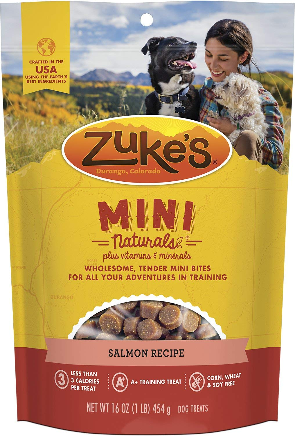 Zukes Mini Naturals Moist Miniature Treats Salmon 12lb (12x1lb) by Zuke's