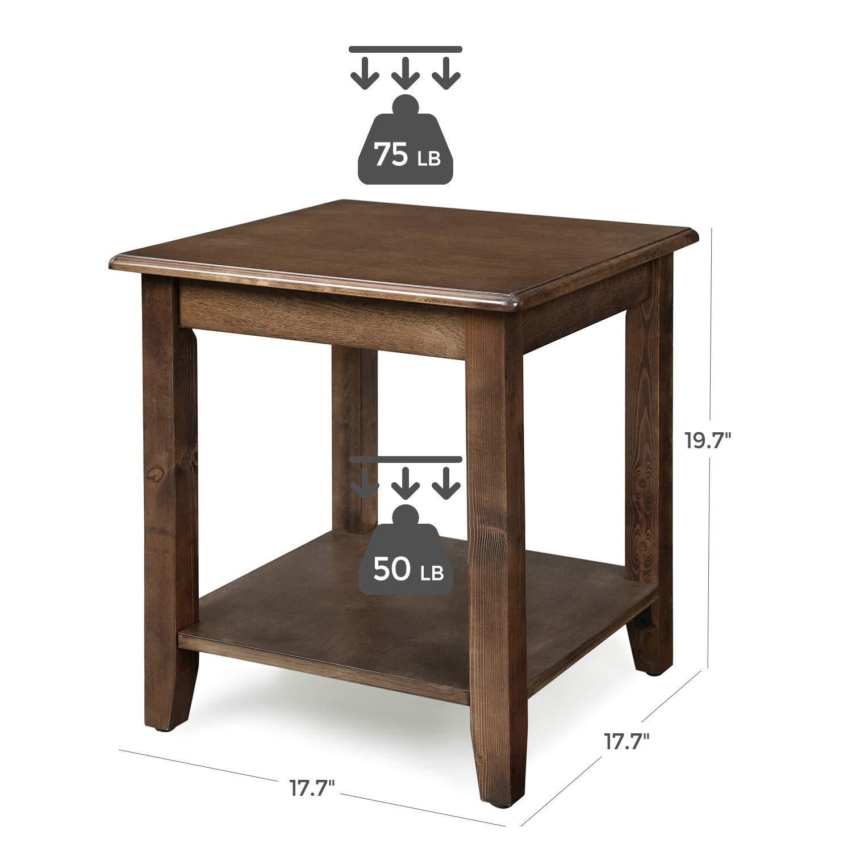 Amazon.com: Mesa auxiliar VASAGLE de 2 niveles con patas de ...