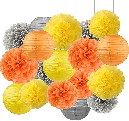 Juego de 12/amarillo linterna de papel 12/ decoraci/ón para fiesta cumplea/ños novia ducha partido Favor Nursery Decor