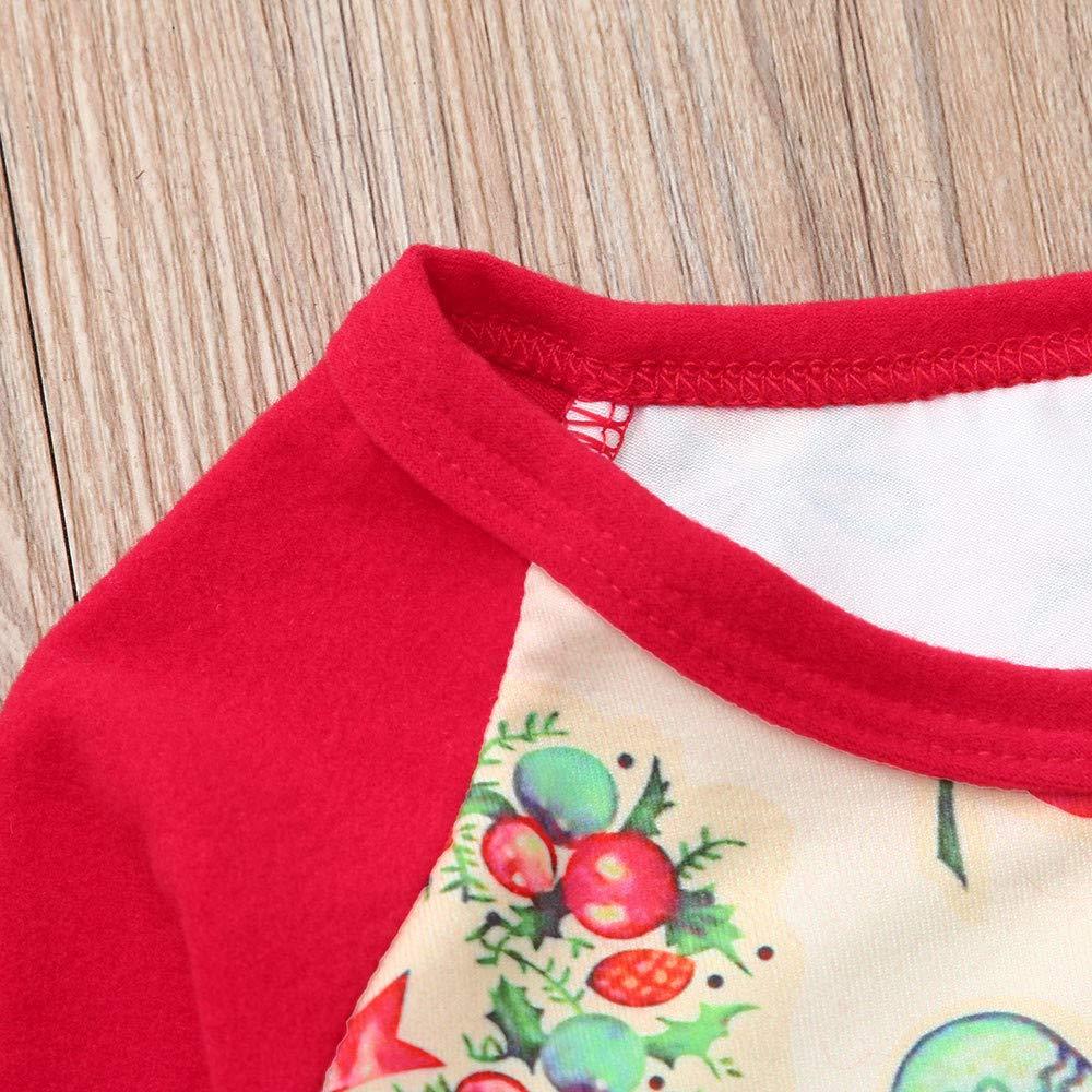Tomatoa Christmas Family Matching Pyjama,Christmas Toddler Romper Jumpsuit Long Sleeve Cartoon Letter Print Romper Jumpsuit Sleepwear Christmas Outfits Set