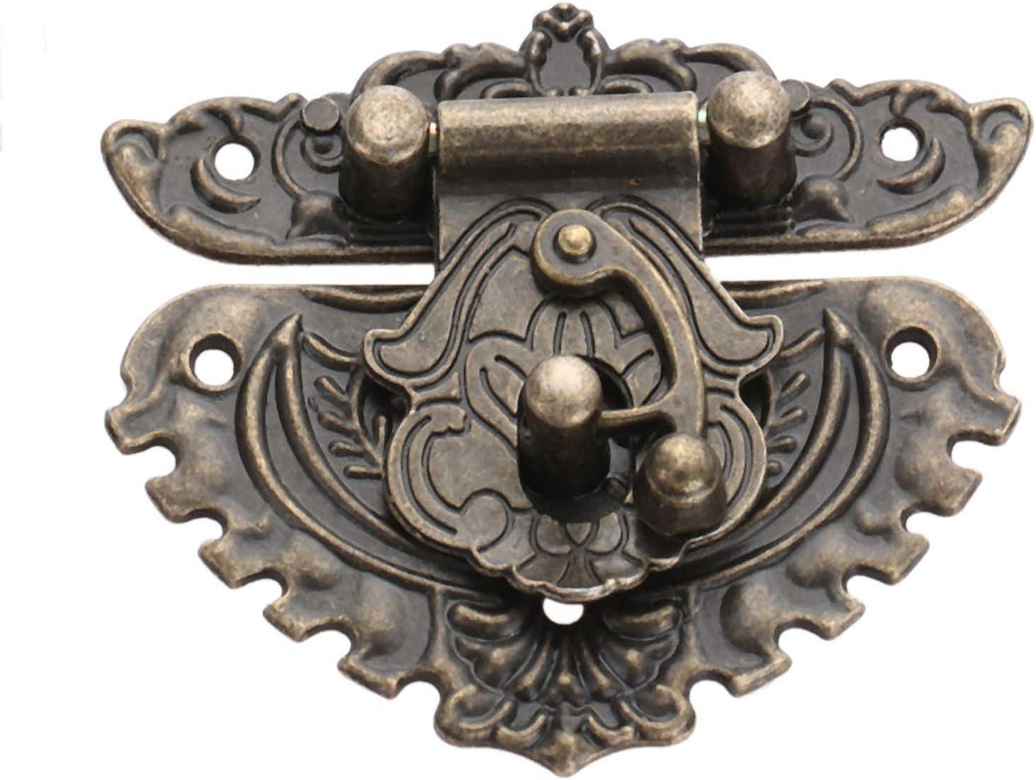 Latch Hasps Jewe 15pcs//set Antique Bronze Round Hinges Iron Decorative Vintage