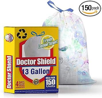 Blancas Rollo de 100 bolsas de basura Bolsas de basura de 40 L