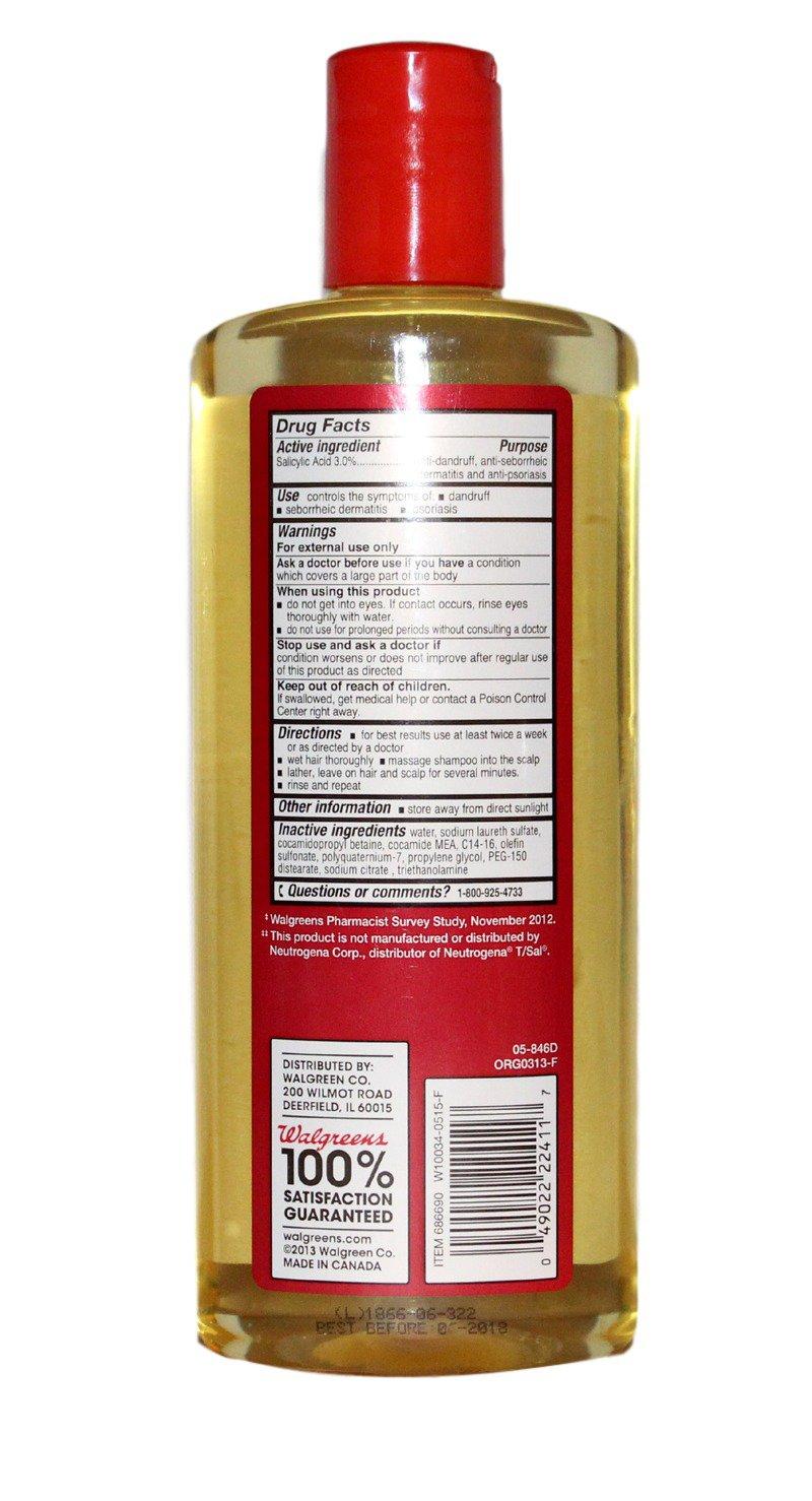 amazon com walgreens maximum strength therapeutic t plus shampoo