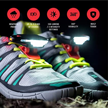 uk availability f0128 e090c Night Trek X Tactical Shoe Lights – Top Runner Safety Gear and Accessories  – LED Clip for Running, Walking, Hiking, Jogging, Cycling – Easy, Secure ...