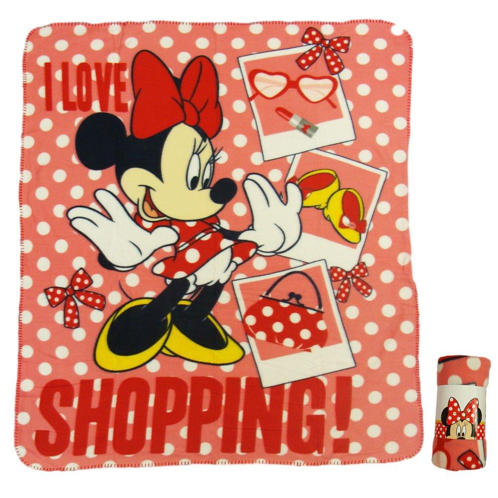 Minnie Mouse - Manta Polar roja 120 x 140 cm Whitehouse