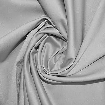 Silver Stretch Duchess Satin Fabric SW
