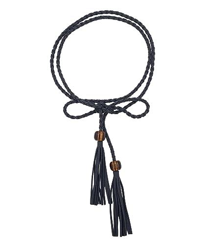 TeeYee Cinturón de Cintura para Mujer y Niña, con Borla y Abalorios, Mujer,