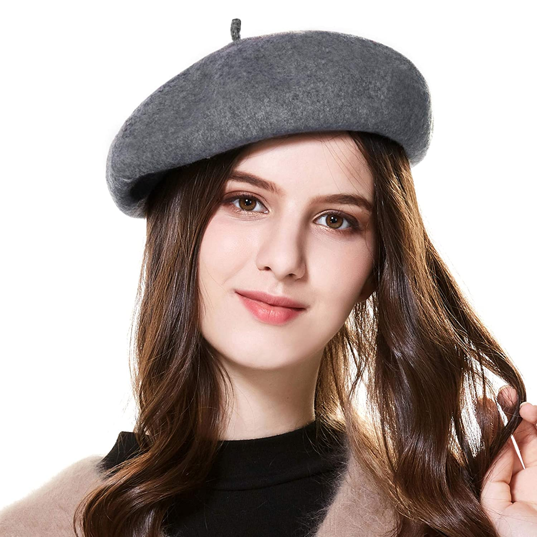 Winter Hats Wool French Berets for Women Ladies Kajeer