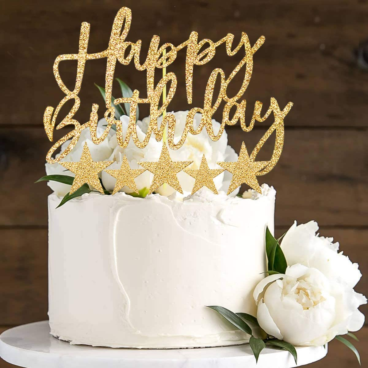 Per Ragazza Feste Di Compleanno iZoeL Oro Compleanno Torta Topper Banner Di Buon Compleanno Coriandoli Palloncino Stella Candela Decorazione Della Torta