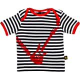 Rockabye-Unisex Baby Guitar Tee shirt Short Sleeve T-Shirt (Black/White)