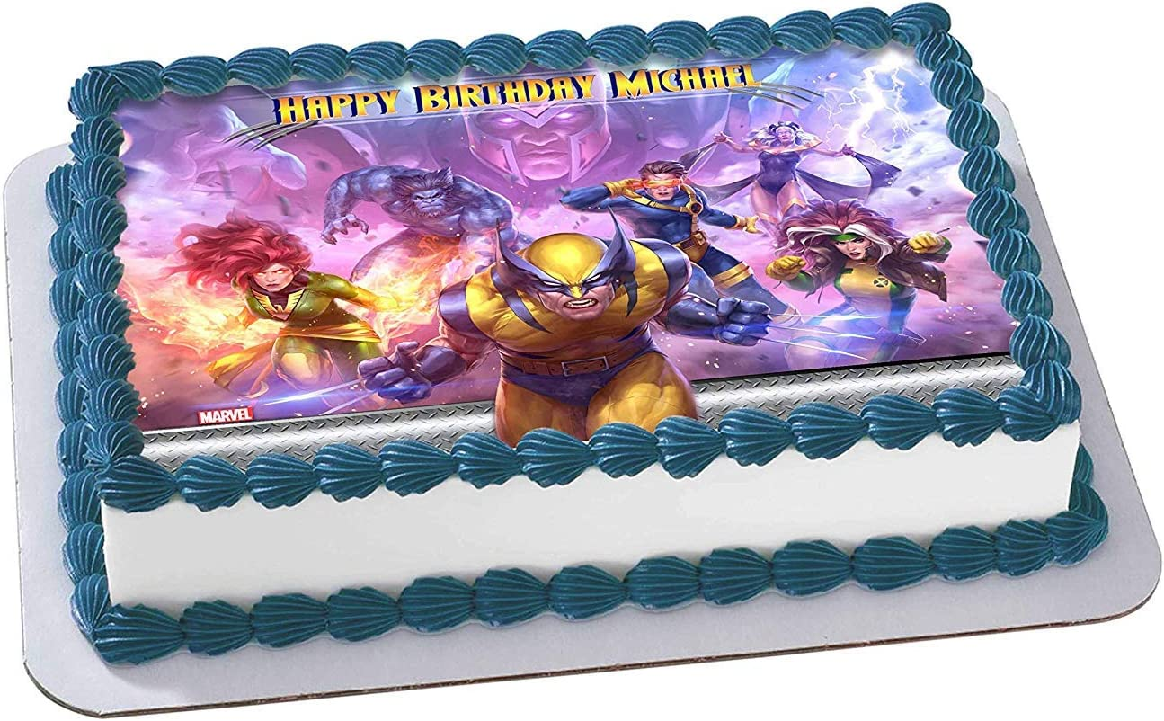 Magnificent Amazon Com X Men Wolverine Edible Cake Image Topper Personalized Birthday Cards Printable Giouspongecafe Filternl