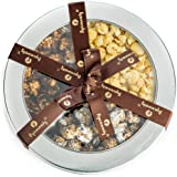 Deluxe Tri Flavored Popcorn Gift Tin - Sweet & Salty | Cookies & Cream | Caramel Chocolate Drizzle
