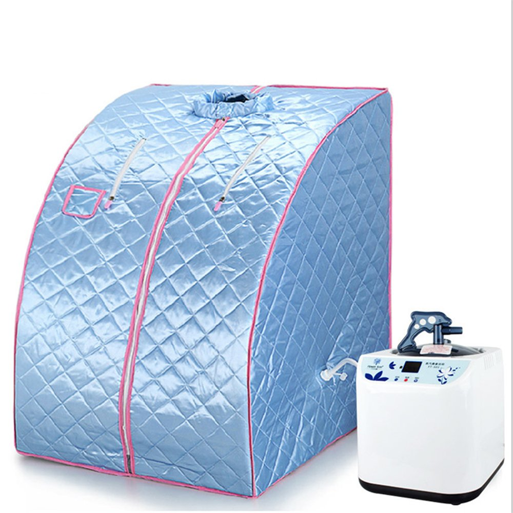 Mobile Dampfsauna Heimsauna Sauna Wärmekabine Sitzsauna Saunakabine (Blau) Vendeur Pro