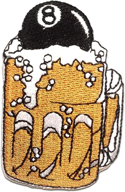 Aufnäher // Bügelbild braun Löwe Tier Patches Aufbügeln 5.3 x 7.9 cm