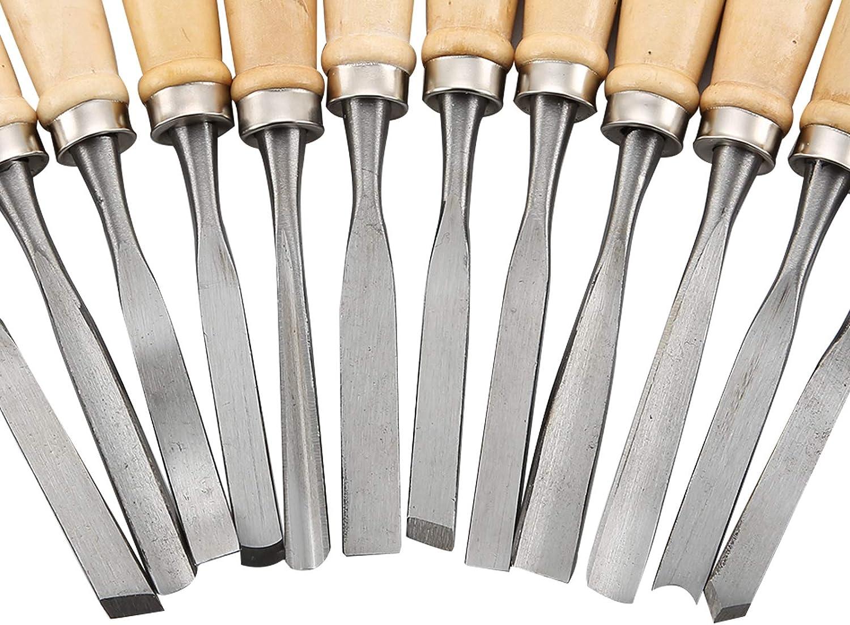 AllRight 12 tlg Schnitzmesser Schnitzwerkzeug f/ür Holz Set Erwachsene Profi f/ür Holzschnitzerei Holz Obst Skulptur und Wax mit Etui Gem/üse Carving DIY