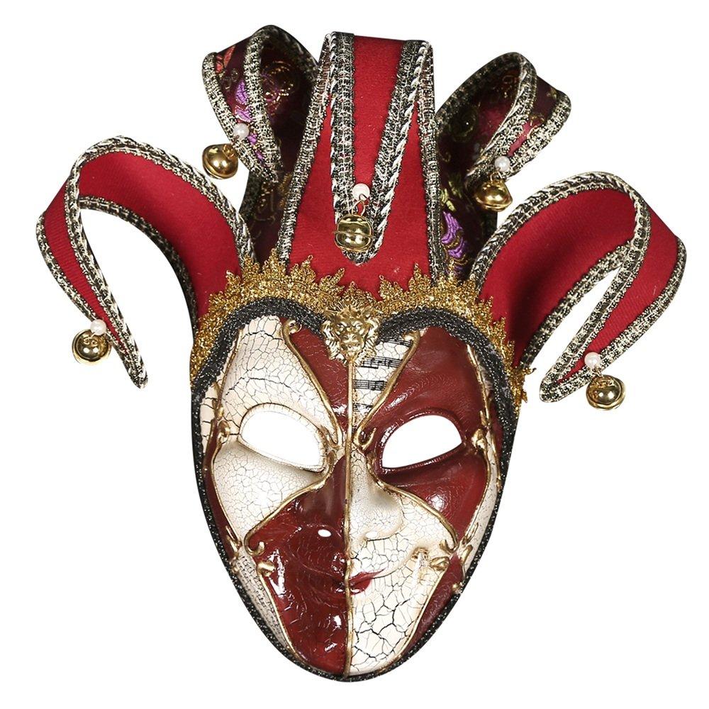 B Yxsd Highend beautiful crack festival masquerade mask Halloween birthday party clown mask (color   C)