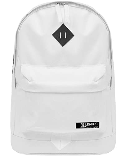 3648a09316 Twisted Soul Mens White Coded Logo Rucksack Backpack Carrier Sports Casual  Bag