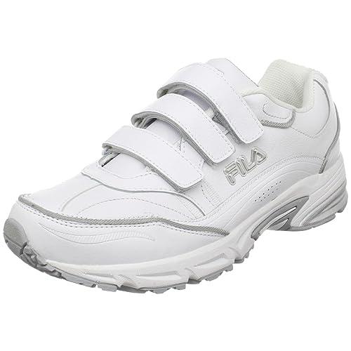 Fila WhiteWhiteMetallic Velcro Men's Trainer Sneaker Comfort PXkiuZ