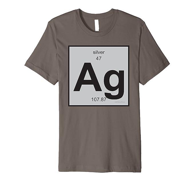 Amazon ag silver t shirt periodic table of elements clothing mens ag silver t shirt periodic table of elements 2xl asphalt urtaz Images