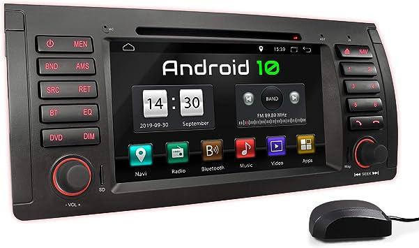 XOMAX XM-71BA Radio de Coche con Android 10 Adecuado para BMW I Quad Core, 2GB