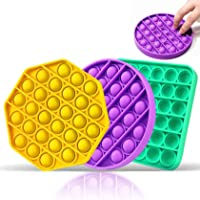 Fidget Pop it Game, Brinquedo de brinquedo Popper Fidget Push Pop Bubble Sensory Toy, Brinquedos de Silicone de Alívio…