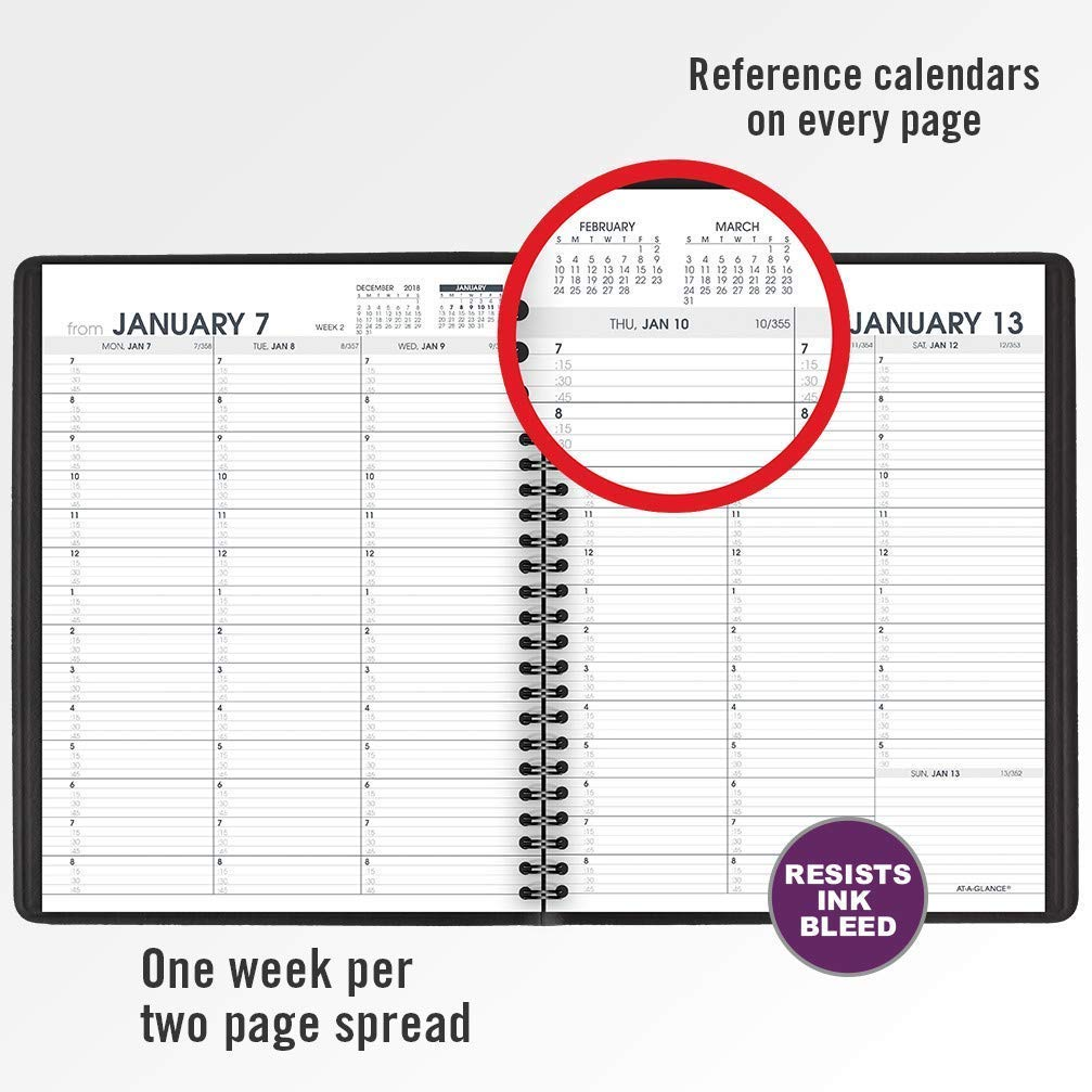 AT-A-GLANCE 2019 Weekly Appointment Books/Planners, 7'' x 8-3/4'', Medium, Black, 12 Pack (70951Z05) by AT-A-GLANCE (Image #4)